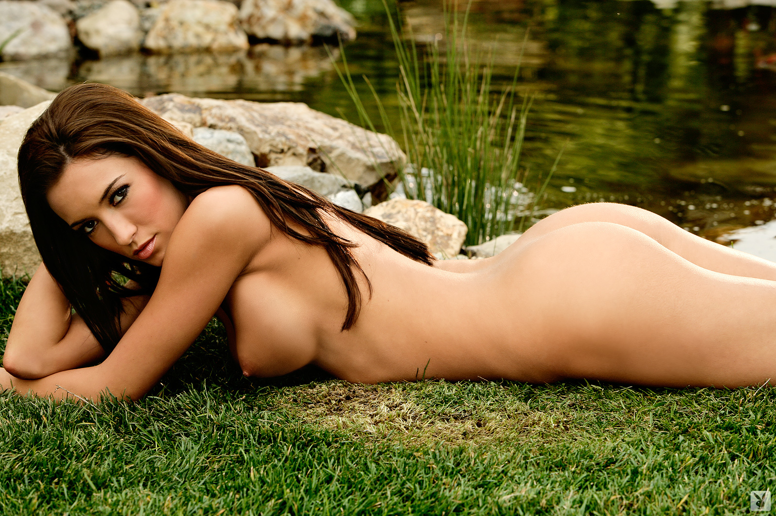 Girls naked in the yard