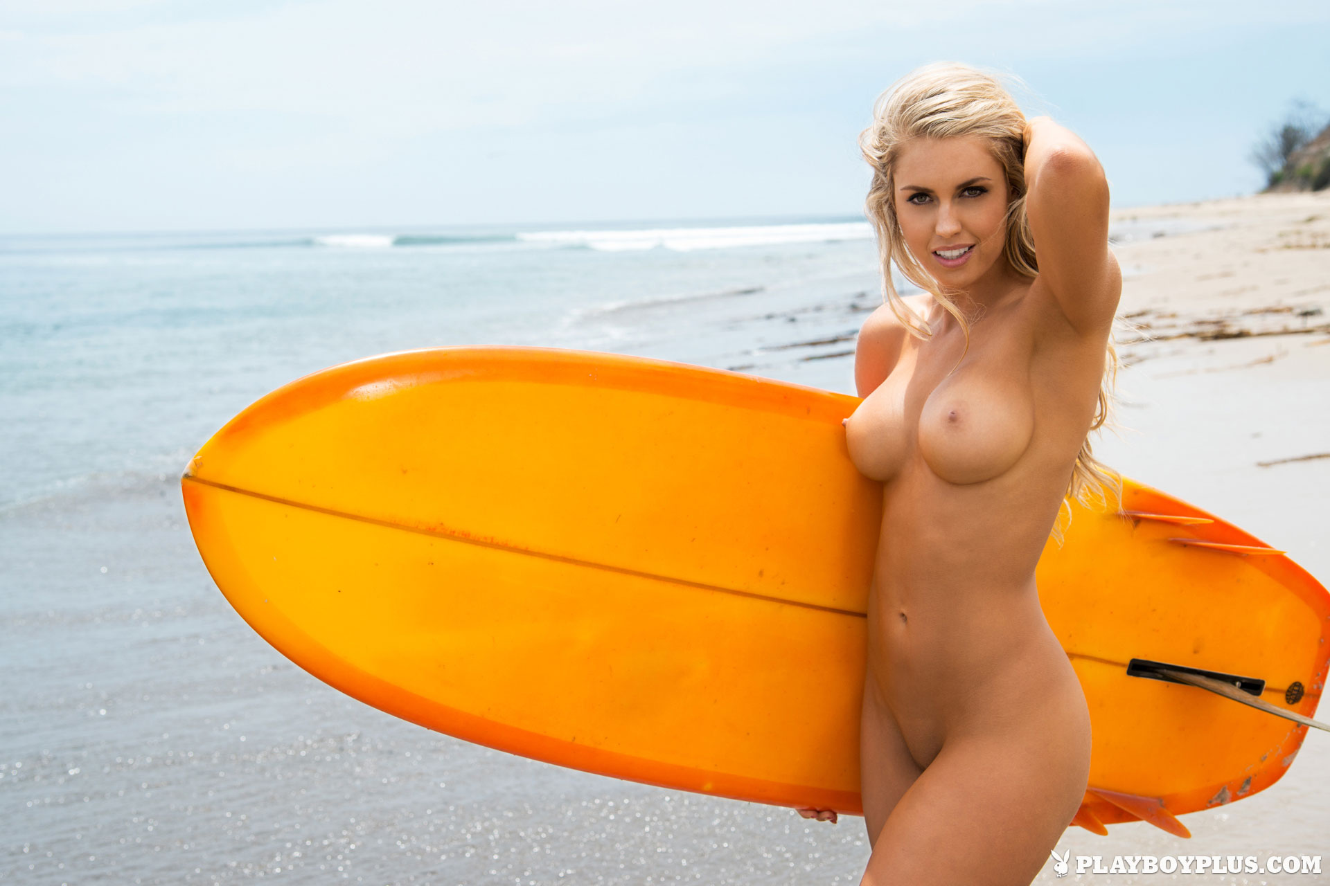 Surfer girls naked with very long hair sexy pic